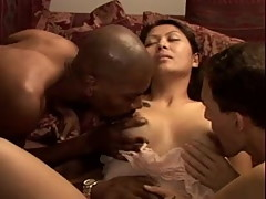 Cheating Asian Wife Mika BBC Creampie Gangbang