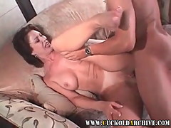 Cuckold Archive Old sissy husband has his wife fucking 2