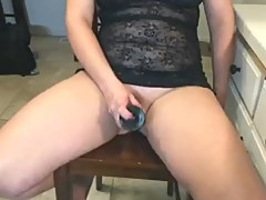 Wifey squirting hard on her new bbc