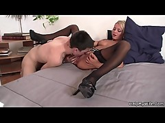 Guy doggy-fucks his young wife