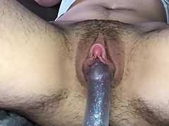 MY GIRLFRIEND FUCKS MY BOYPUSSY WITH A SPARKLY DILDO
