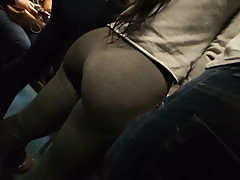 Huge ass ebony with the boyfriend candid
