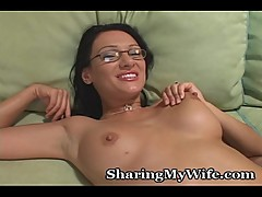 Innocent Wife Gobbles Black Cock