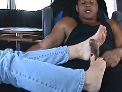Ex-girlfriend gives me a great footjob
