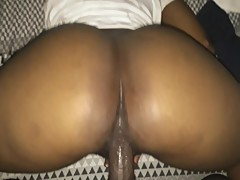 HUGE ASS EBONY GIRLFRIEND STILL RIDE BBC AFTER CREAMPIED UNTIL SHAKY ORGASM