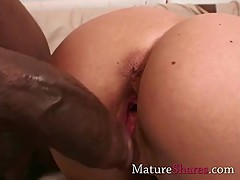 Horny housewife with big black dong