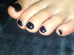 My Girlfriends Sweet Feet With Black Polish
