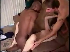 The cuck opens wife's legs for black bull
