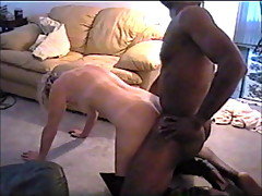 Blonde wife enjoying a black cock