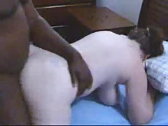 Redhead wife exhausted after sex with black friend