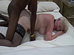 White Women Need Younger Black men Creampie Doggy