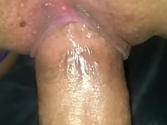 Young gripping pussy close up. Bound wife takes wide cock. (Squirt)