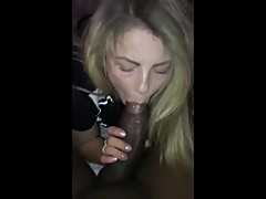 Horny wife gives BBC hot blowjob