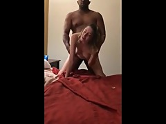 Husband films his sexy wife gets hot creampie from BBC