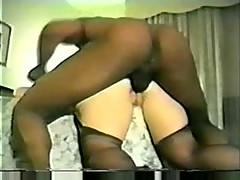Hotwife in stockings and heels takes bbc in the ass