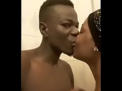 ugly man fucks pretty black gf in shower