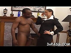 Handsome ebony fellow with giant 10-pounder fucks his girlfriend