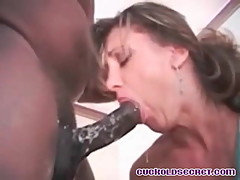 Cuckold sissys wives deep throated by BBC bull