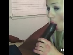 Smoking Hot Model Sucking On My Huge Black Dick
