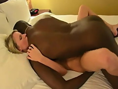 Gorgeous Blonde Wife 1st Black Cock