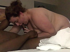 Blowjob From BBW Hot Wife