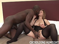 His big black cock is going to make me cum so hard