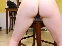 Thick Girlfriend Squirting On Her BBC Dildo