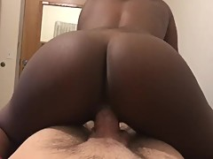 Black Gf Sucks Then Rides White Dick