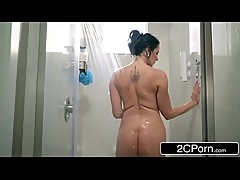 Step Son Catches Reagan Foxx In The Shower