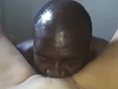 Black Boi Eating French Mature Wife's Pussy