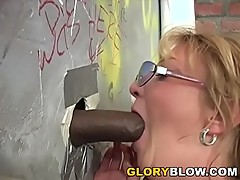 Busty Cougar Kiss Fuck Black Dick - Gloryhole