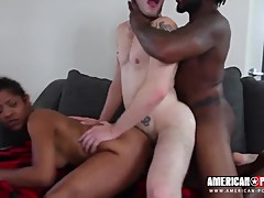 White wife wants to see her husband pleased by her bbc fuck buddies