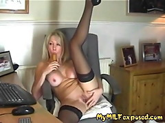 My MILF Exposed super hot wife in black stockings